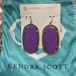 Kendra Scott Purple Danielle Earrings